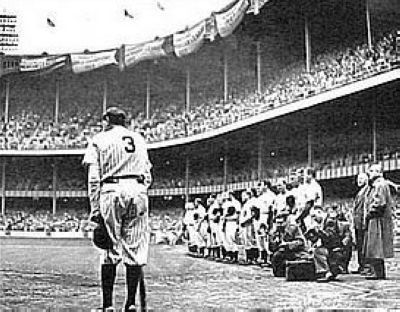 Babe Ruth New York Yankees MLB 8x10 Photograph Yankee Stadium Farewell