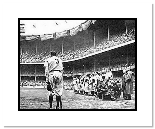 Babe Ruth New York Yankees MLB Double Matted 8x10 Photograph Yankee Stadium Farewell