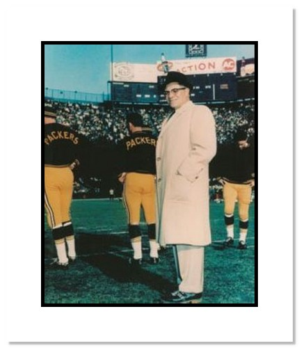 Vince Lombardi Green Bay Packers NFL Double Matted 8x10 Photograph Sideline Coaching