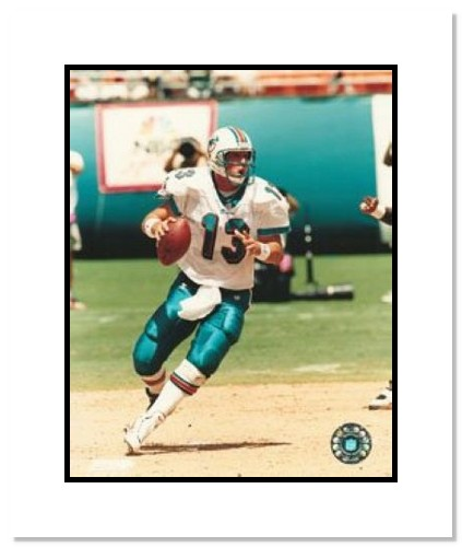 Dan Marino Miami Dolphins NFL Double Matted 8x10 Photograph Dropping Back