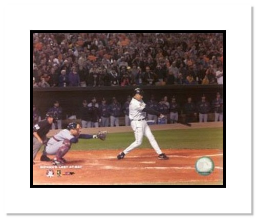 Cal Ripken Jr Baltimore Orioles MLB Double Matted 8x10 Photograph Last Career at Bat