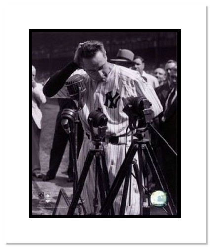 Lou Gehrig New York Yankees MLB Double Matted 8x10 Photograph Retirement Speech