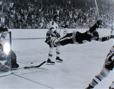Bobby Orr Boston Bruins NHL 8x10 Photograph The Dive