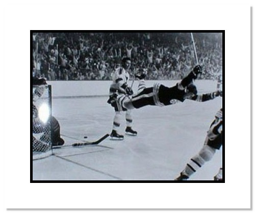 Bobby Orr Boston Bruins NHL Double Matted 8x10 Photograph The Dive
