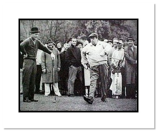 Jackie Gleason PGA Golf Double Matted 8x10 Photograph Away we go with Arnold Palmer