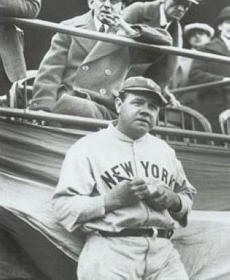 Babe Ruth New York Yankees MLB 8x10 Photograph Signing Baseball