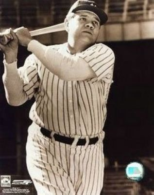Babe Ruth New York Yankees MLB 8x10 Photograph Swinging Close Up