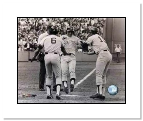Bucky Dent New York Yankees MLB Double Matted 8x10 Photograph 1978 Game Winning HR Celebration