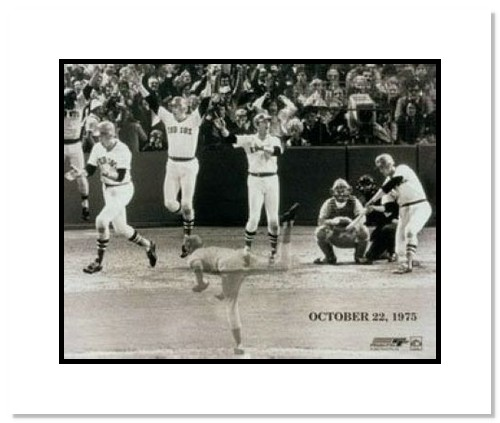 Carlton Fisk Boston Red Sox MLB Double Matted 8x10 Photograph 1975 World Series HR