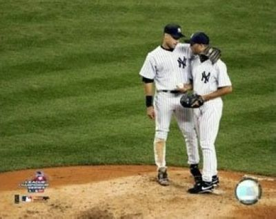 Derek Jeter New York Yankees MLB 8x10 Photograph on the Mound with Mariano Rivera