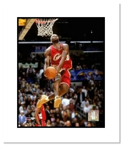 LeBron James Cleveland Cavaliers NBA Double Matted 8x10 Photograph 2004 All-Star Dunk