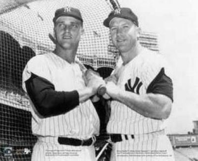 Mickey Mantle and Roger Maris New York Yankees MLB 8x10 Photograph
