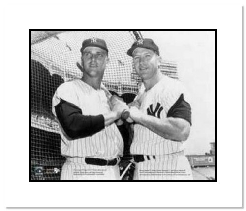 Mickey Mantle and Roger Maris New York Yankees MLB Double Matted 8x10 Photograph
