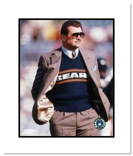 Mike Ditka Chicago Bears NFL Double Matted 8x10 Photograph Sideline Coaching