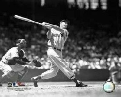Ted Williams Boston Red Sox MLB 8x10 Photograph Swinging