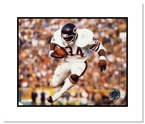 Walter Payton Chicago Bears NFL Double Matted 8x10 Photograph Airbound