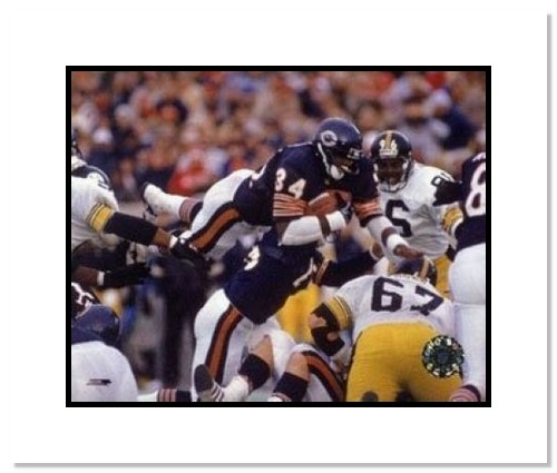 Walter Payton Chicago Bears NFL Double Matted 8x10 Photograph Goal Line Dive