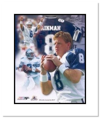 Troy Aikman Dallas Cowboys NFL Double Matted 8x10 Photograph Legends Collage