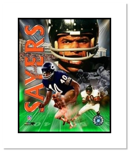 Gale Sayers Chicago Bears NFL Double Matted 8x10 Photograph Legends Collage
