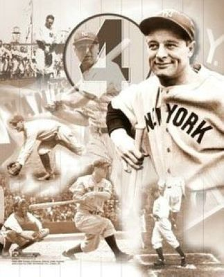 Lou Gehrig New York Yankees MLB 8x10 Photograph Legends Collage