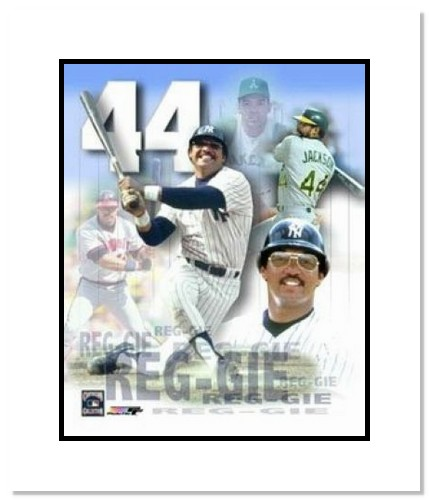 Reggie Jackson New York Yankees MLB Double Matted 8x10 Photograph Collage