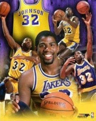 Magic Johnson Los Angeles Lakers NBA 8x10 Photograph Collage