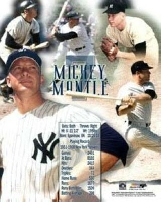 Mickey Mantle New York Yankees MLB 8x10 Photograph Collage