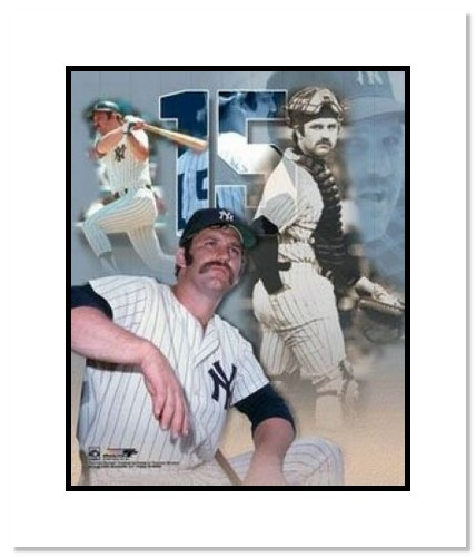 Thurman Munson New York Yankees MLB Double Matted 8x10 Photograph Collage