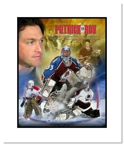 Patrick Roy Montreal Canadiens NHL Double Matted 8x10 Photograph Legends Collage