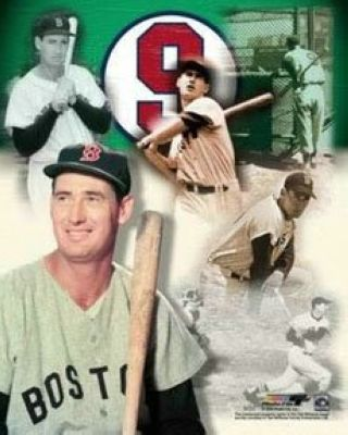 Ted Williams Boston Red Sox MLB 8x10 Photograph Legends Collage