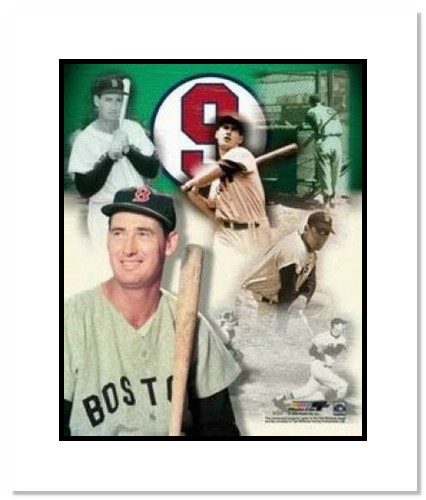 Ted Williams Boston Red Sox MLB Double Matted 8x10 Photograph Legends Collage