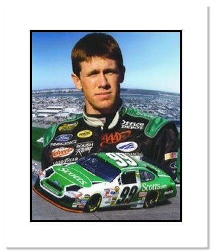Carl Edwards NASCAR Auto Racing Double Matted 8x10 Photograph Collage
