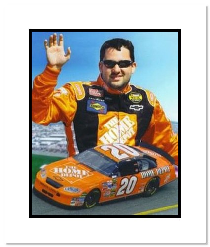 Tony Stewart NASCAR Auto Racing Double Matted 8x10 Photograph Collage
