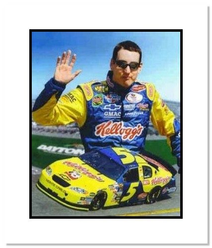 Kyle Busch NASCAR Auto Racing Double Matted 8x10 Photograph Collage