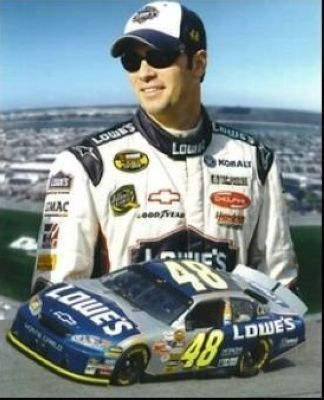 Jimmie Johnson NASCAR Auto Racing 8x10 Photograph Collage