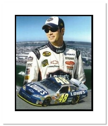 Jimmie Johnson NASCAR Auto Racing Double Matted 8x10 Photograph Collage