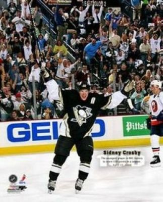 Sidney Crosby Pittsburgh Penguins NHL 8x10 Photograph 100th Point Action