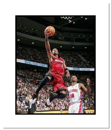 Dwyane Wade Miami Heat NBA Double Matted 8x10 Photograph 2006 Finals Dunking