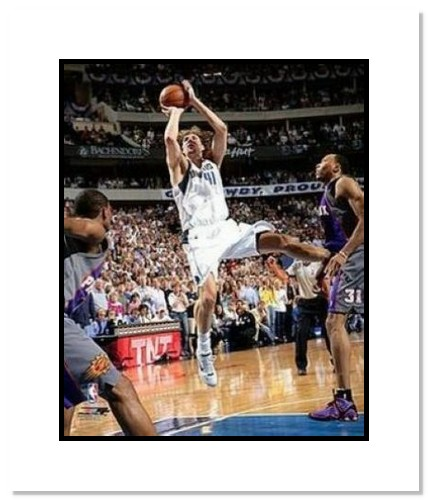 Dirk Nowitzki Dallas Mavericks NBA Double Matted 8x10 Photograph 2006 Playoffs Shooting