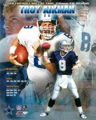 Troy Aikman Dallas Cowboys NFL 8x10 Photograph 2006 Hall Of Fame Collage