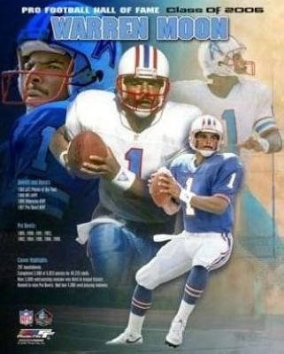 Warren Moon Houston Oilers NFL 8x10 Photograph 2006 Hall Of Fame Collage
