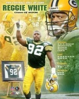 Reggie White Green Bay Packers NFL 8x10 Photograph 2006 Hall Of Fame Collage