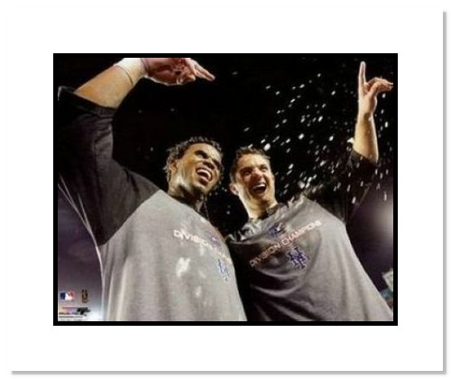 David Wright and Jose Reyes New York Mets MLB Double Matted 8x10 Photograph 2006 Division Champs