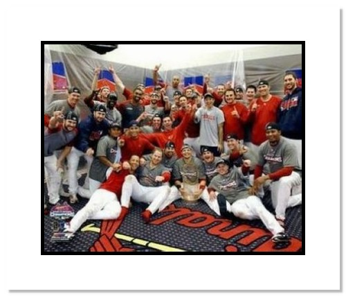 2006 St Louis Cardinals MLB Double Matted 8x10 Photograph World Series Locker Room Celebration