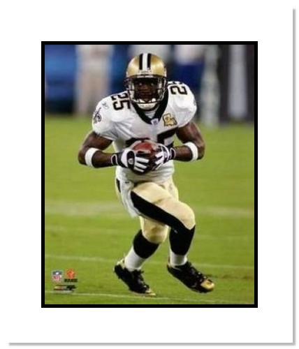 Reggie Bush New Orleans Saints NFL Double Matted 8x10 Photograph Rushing