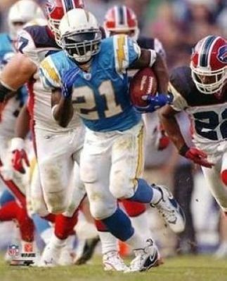 LaDainian Tomlinson San Diego Chargers NFL 8x10 Photograph Baby Blue Rushing