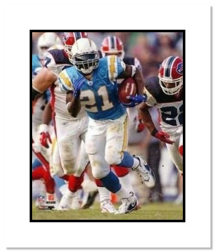 LaDainian Tomlinson San Diego Chargers NFL Double Matted 8x10 Photograph Baby Blue Rushing
