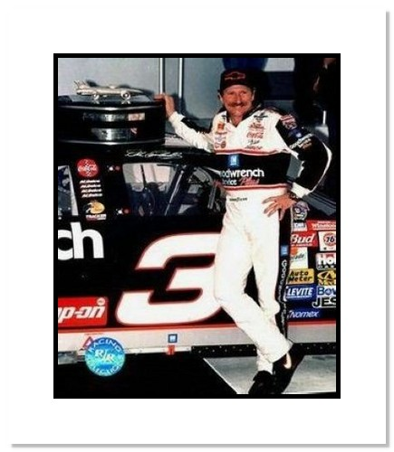 Dale Earnhardt Sr NASCAR Auto Racing Double Matted 8x10 Photograph Daytona 500 Trophy 2