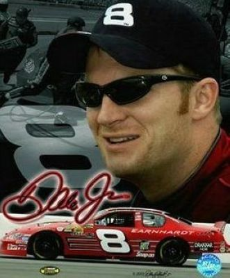 Dale Earnhardt Jr NASCAR Auto Racing 8x10 Photograph Signature Series Collage