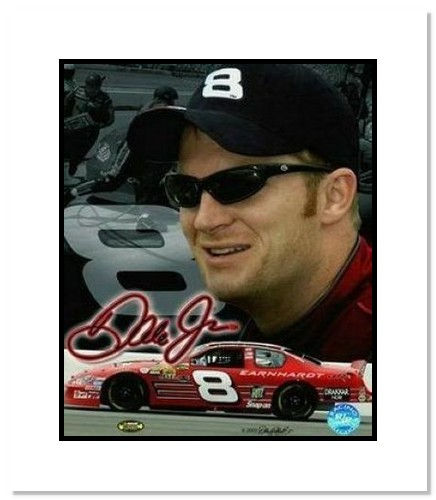 Dale Earnhardt Jr NASCAR Auto Racing Double Matted 8x10 Photograph Signature Series Collage